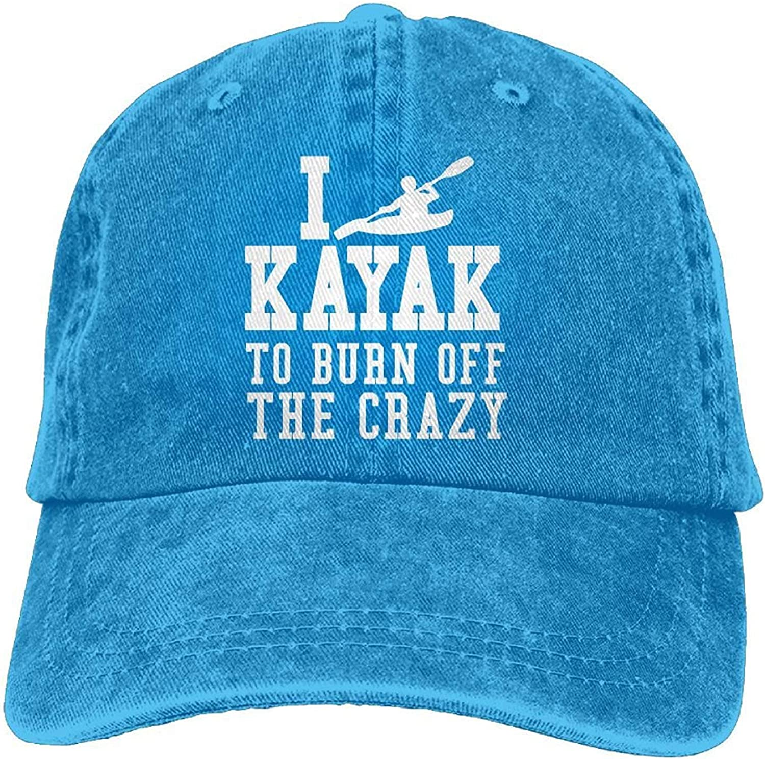 I Kayak to Burn Off The Crazy Vintage Jeans Baseball Cap for Men and Women W554496