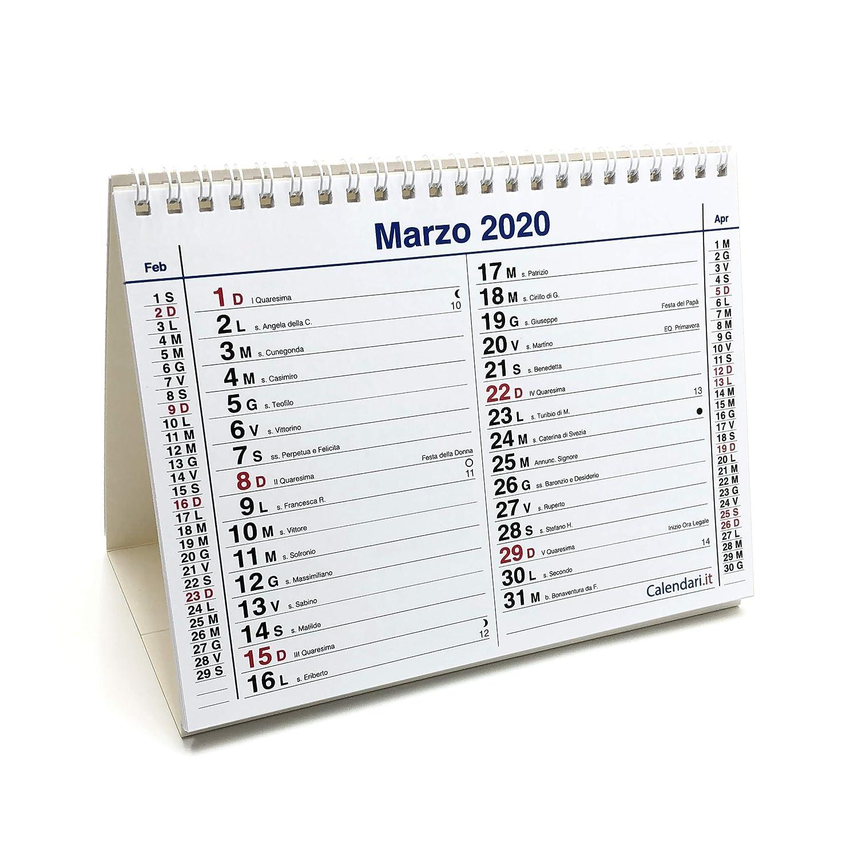 olandese 20x15 cm per ufficio casa e lavoro con santi e lune 14 fogli UNO PER OGNI MESE Calendario 2020 da tavolo mod