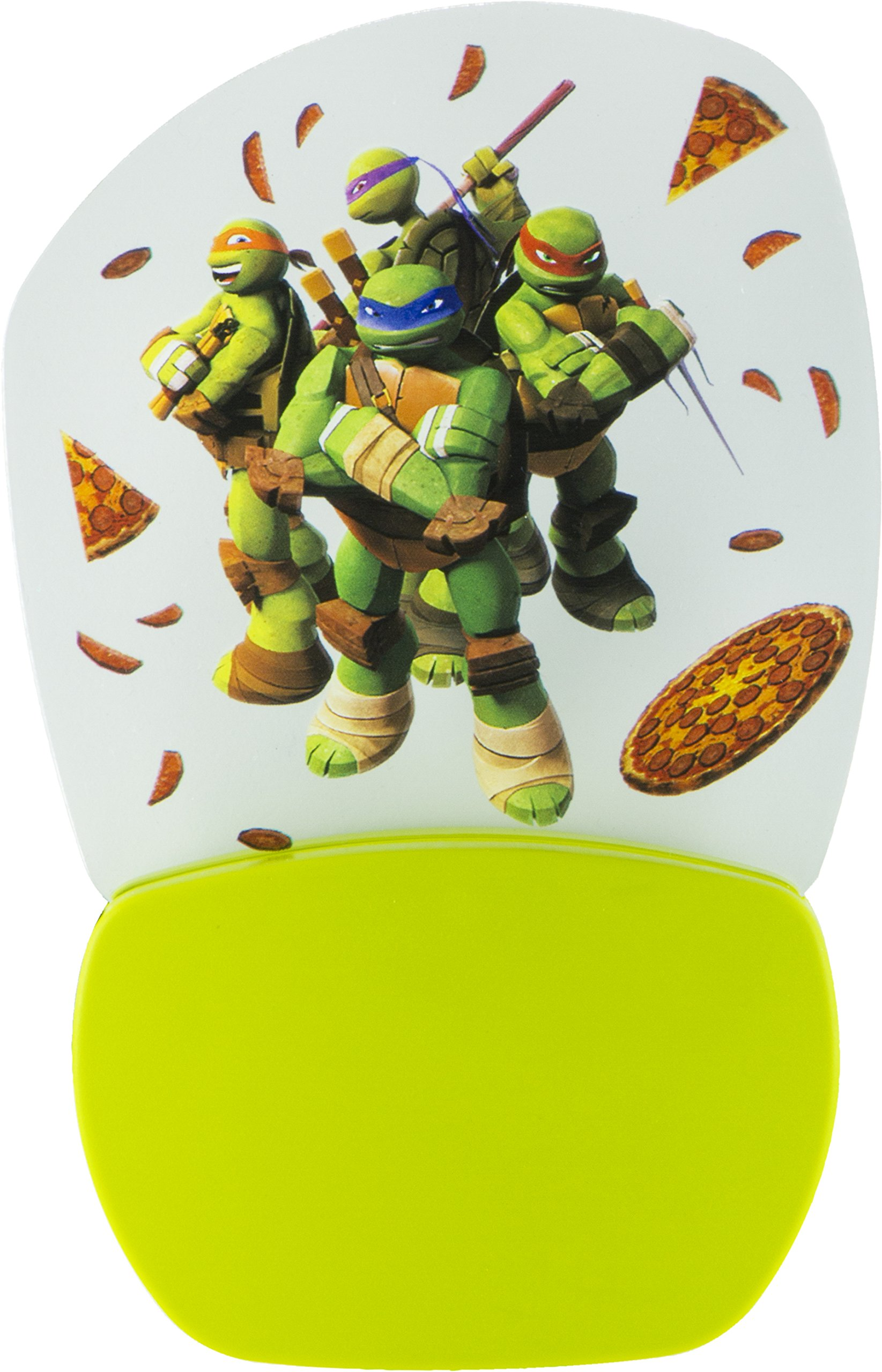 Nickelodeon Teenage Mutant Ninja Turtles 3D Motion Effect Night Light, Soft White Glow, Light Sensing, Long Life and Low Energy LED, 30767