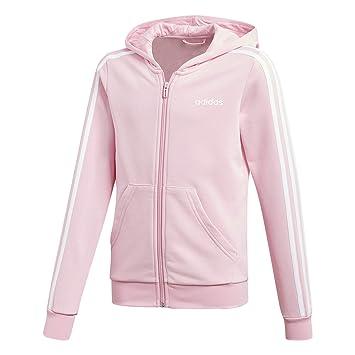 adidas Originals Essentials 3 Stripes Kapuzenjacke Kinder rosaweiß, 152