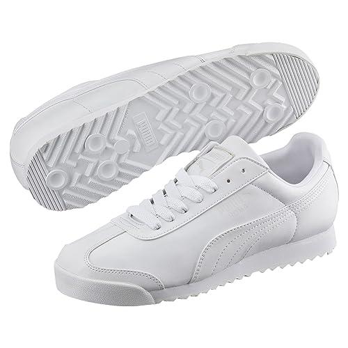 Chaussures Puma Court Star Blanc Bleu Marine Basket Blanc
