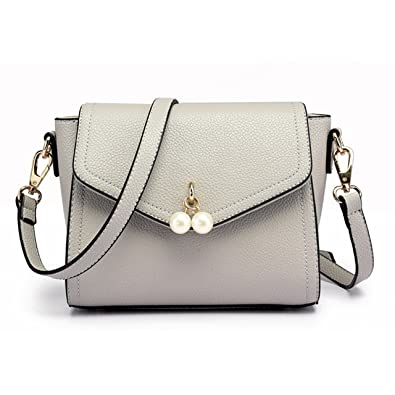 Small Handbags Ladies Mini Shoulder Messenger Bag Fashion Cute Tote Shoulder  PU Leather Cross-body Handle Bag purse for Women Girl (Grey)  Amazon.co.uk   ... aa8a2edb0d6f5