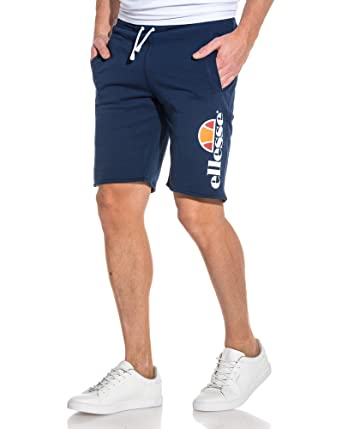 44959ed85d82 ellesse - Short Navy Logo Heritage - Color: Blue, Size: XS: Amazon ...
