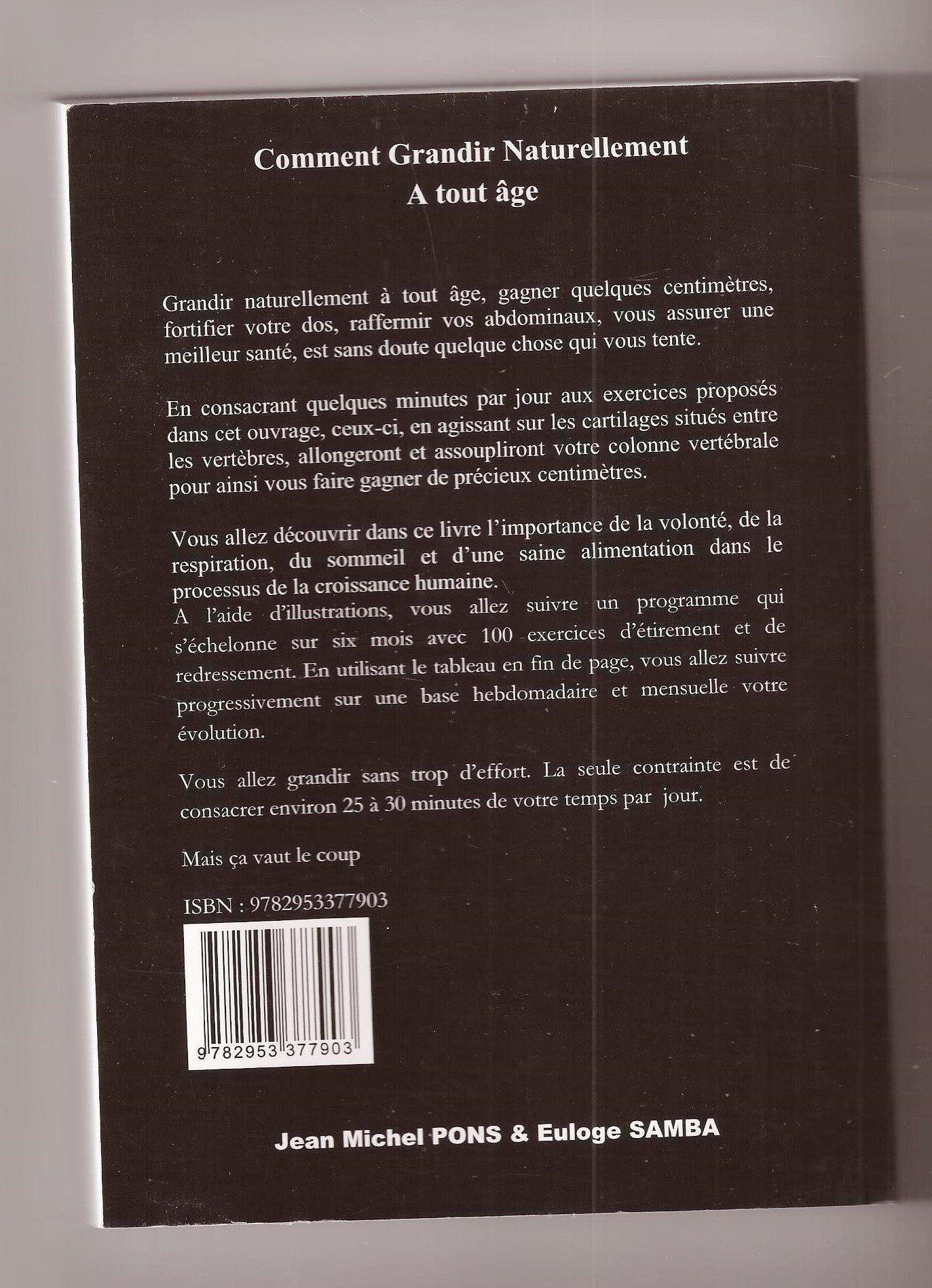 Amazon Fr Comment Grandir Naturellement A Tout Age Jean Michel Pons Euloge Samba Euloge Samba Livres