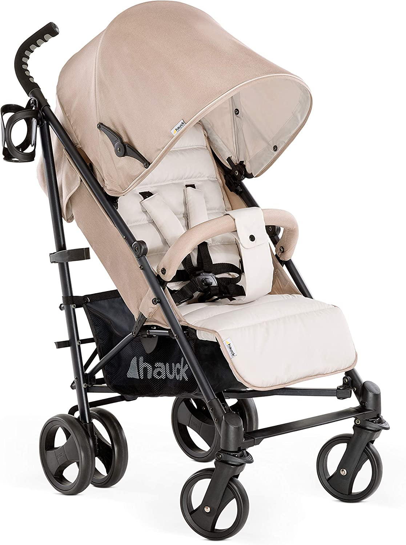 Hauck Vegas - silla de paseo con posiciones, plegado compacto, ligera, chasis aluminio, botellero, desde nacimiento hasta 25 kg, fungi (beige)