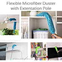 MinuteToCleanIt Microfiber Flexible Cleaning Duster with Extendable Handle (Assorted Color, Long Pole)