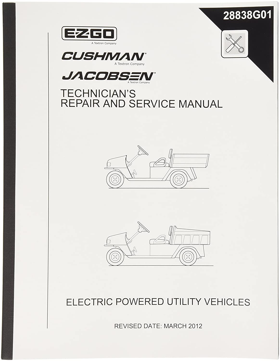 Amazon.com : EZGO 28838G01 2004-2008 Technician's Repair and Service Manual  for Electric MPT, Industrial, Hauler and Commander : Outdoor Decorative  Fences ...