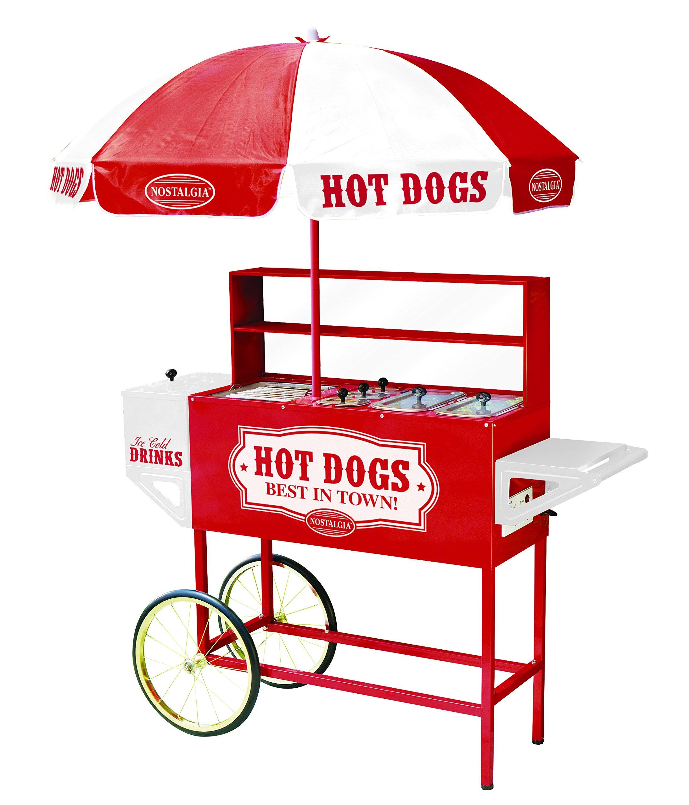 Nostalgia HDC701 48-Inch Hot Dog Vending Cart by Nostalgia