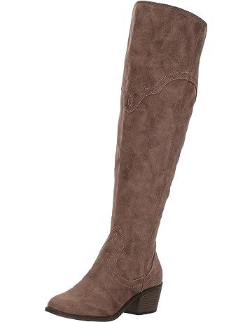1109e026d588 Fergalicious Women's Bata Wide Calf Western Boot