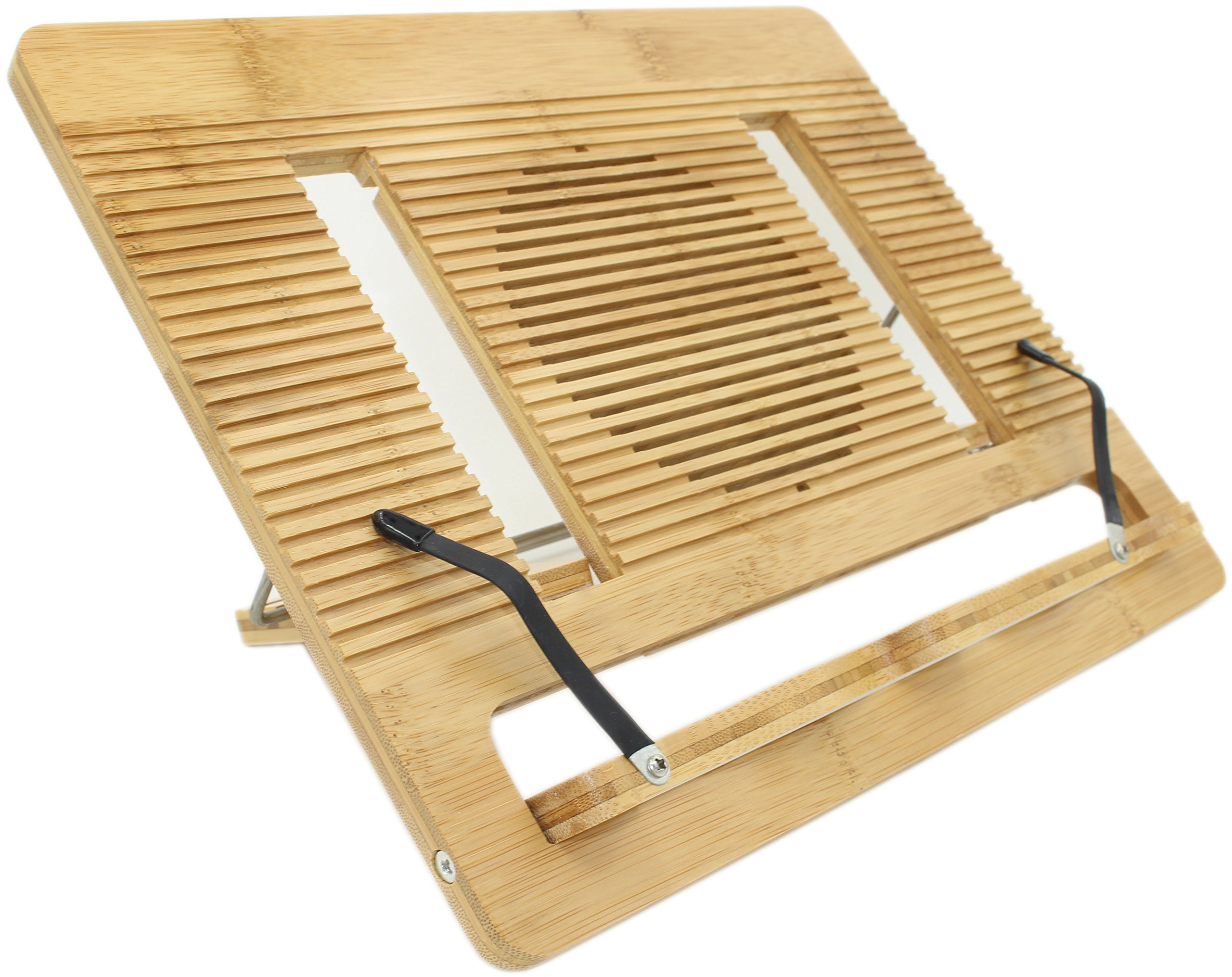 book stand ucharge bamboo adjustable and portable cookbook reading