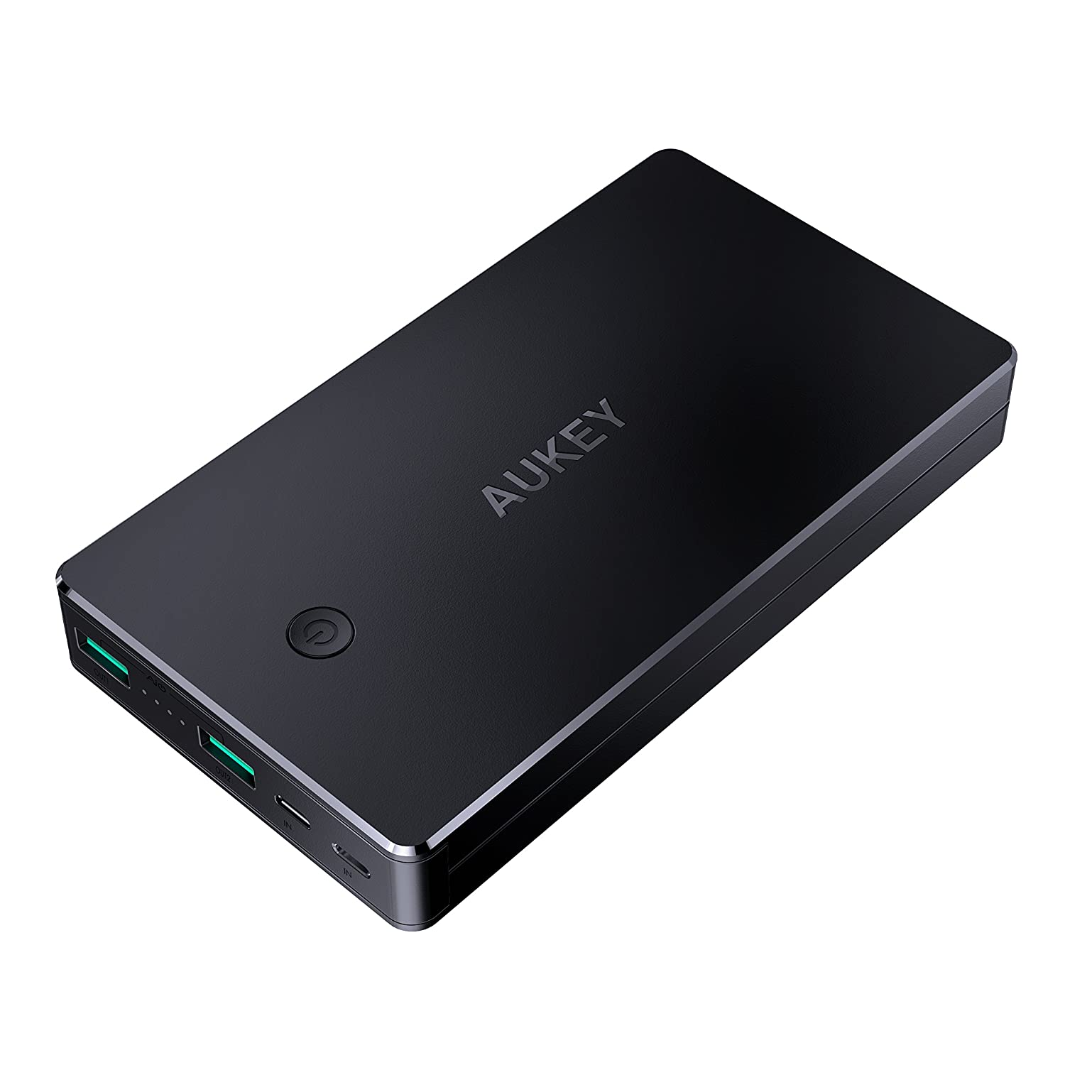 AUKEY 20000mAh Power Bank with Lightning & Micro Input Portable Charger, 3.4A Dual-USB Output Battery Pack for iPhone X/8/Plus, iPad Pro and More