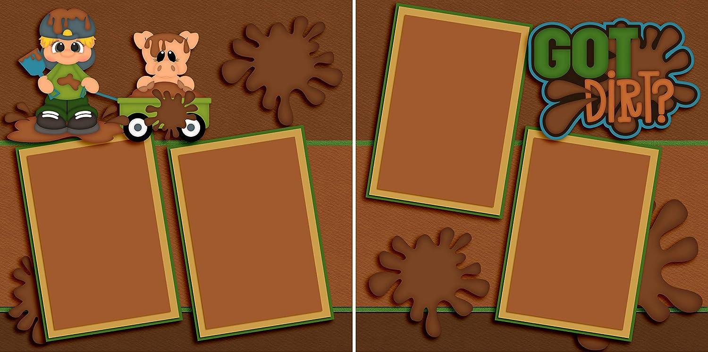 Got Dirt? Premade Scrapbook Pages EZ Layout 3450