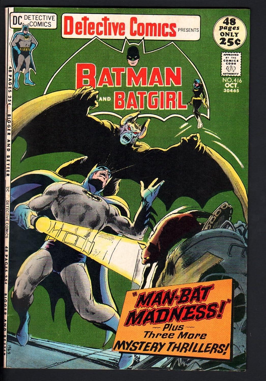 Amazon.com: Detective Comics #416-BATGIRL-MAN-BAT-BATMAN ...