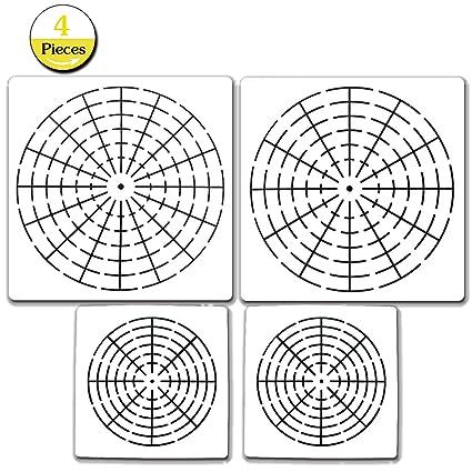 Amazon.com: 4 Pieces Mandala Dotting Stencils Mandala Dot Painting ...