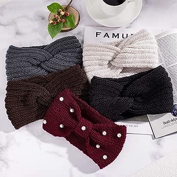 "Stretchy Crochet 3/"" Inch Polka Dot Hair Bow Head Band Hair Wrap UK Stock"