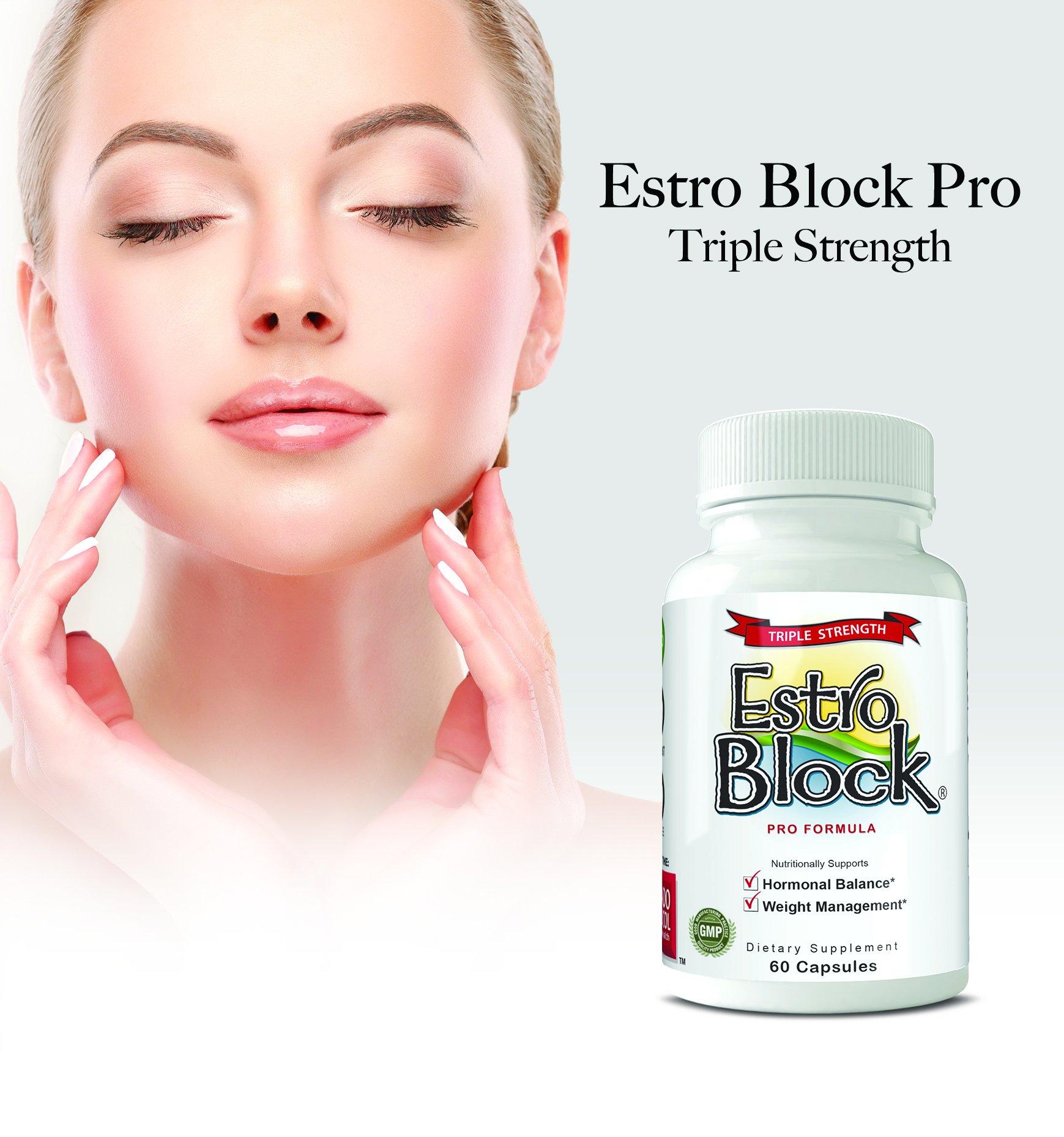 Estroblock PRO TRIPLE STRENGTH - 3-Pack 180 Capsules total, DIM & Indole 3-Carbinol For Natural Hormonal Hormone Balance, Acne