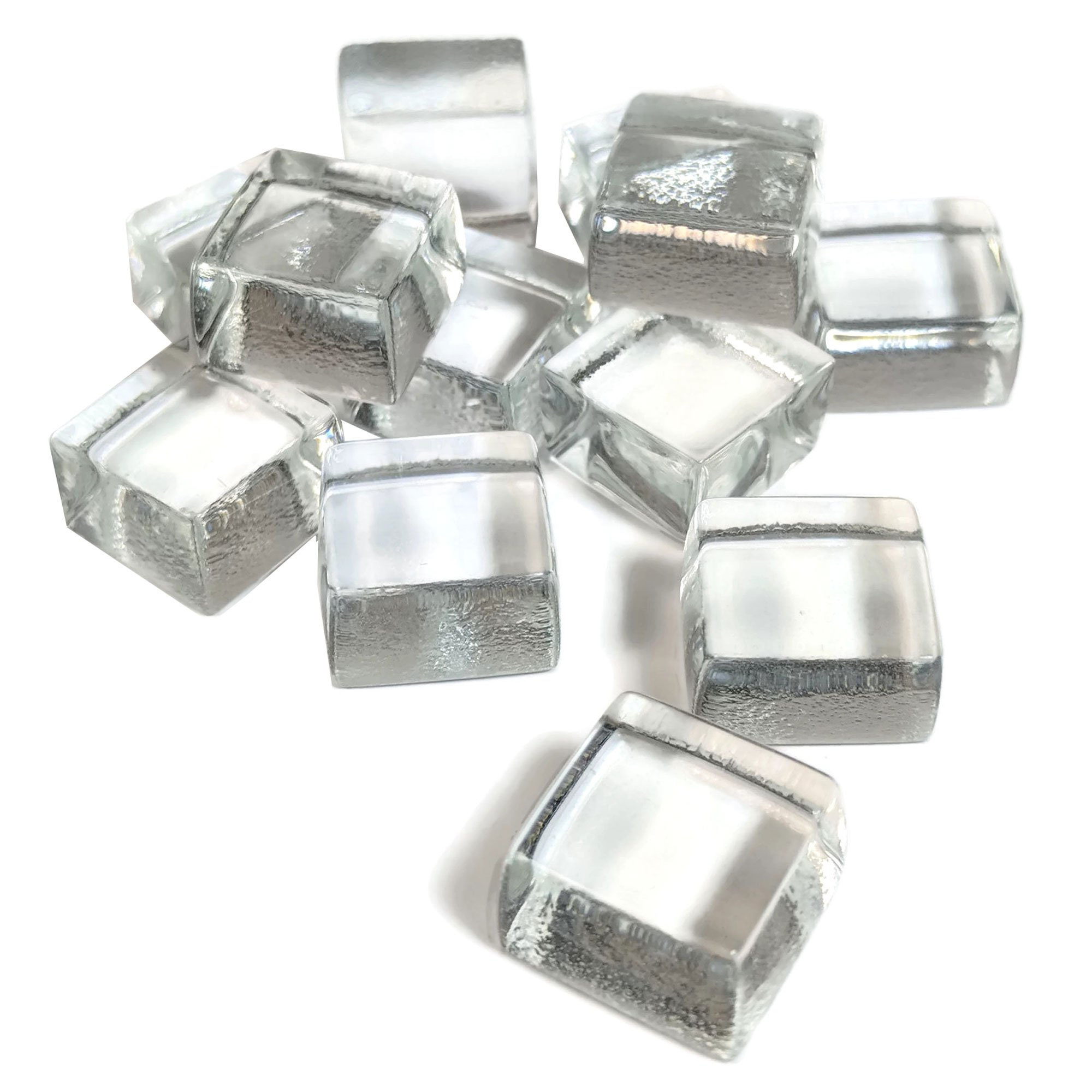 Midwest Hearth Cube Fire Pit Glass 1/2'' Squares 10-Pounds (Diamond White)