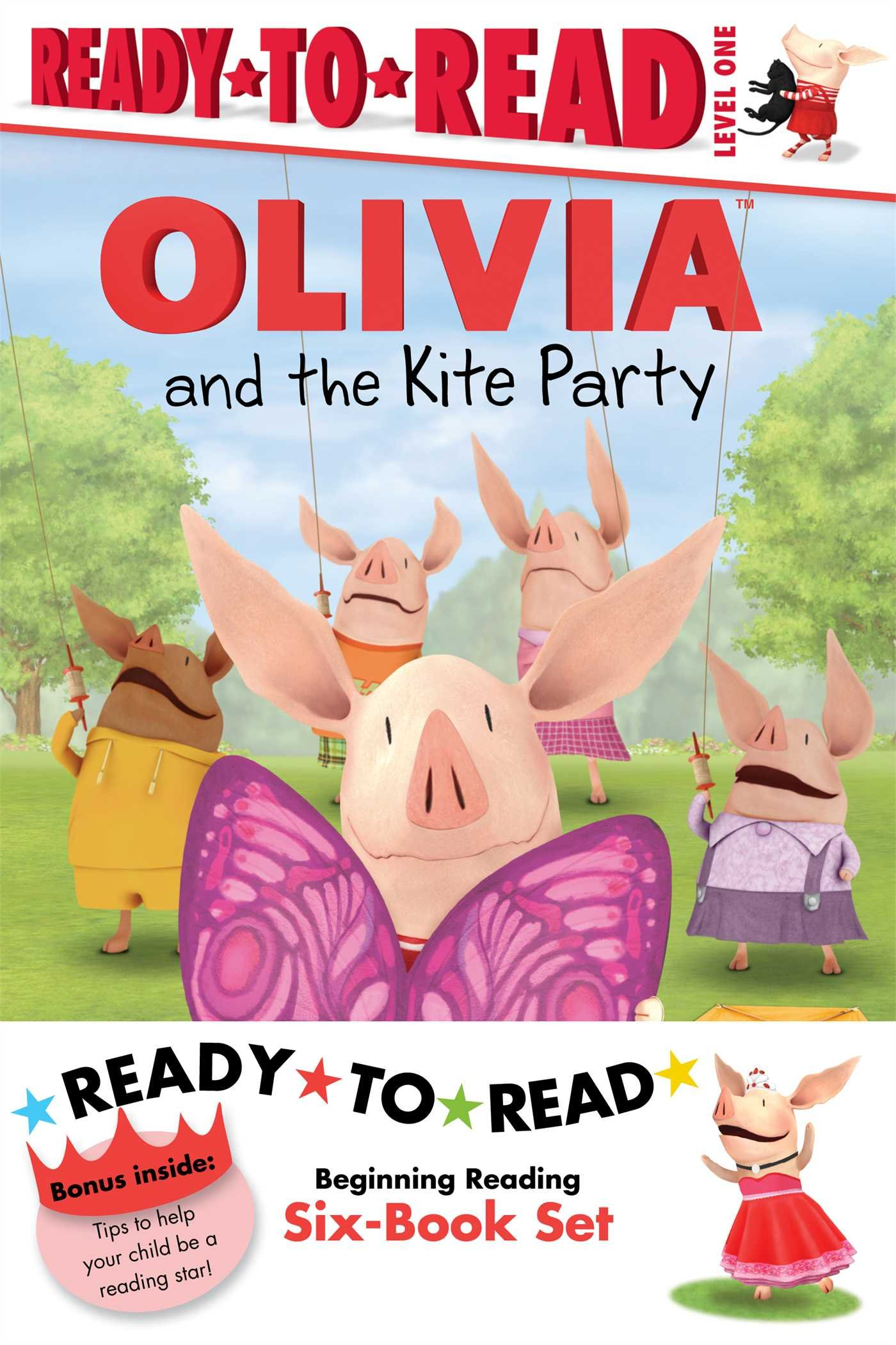 Olivia Ready-to-Read Value Pack #2: Olivia and the Kite Party; Olivia and the Rain Dance; Olivia Becomes a Vet; Olivia Builds a House; Olivia Measures Up; Olivia Trains Her Cat (Olivia TV Tie-in)