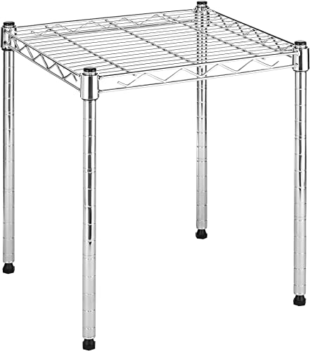 Whitmor Supreme Stacking Shelf and Organizer – Adjustable – Chrome