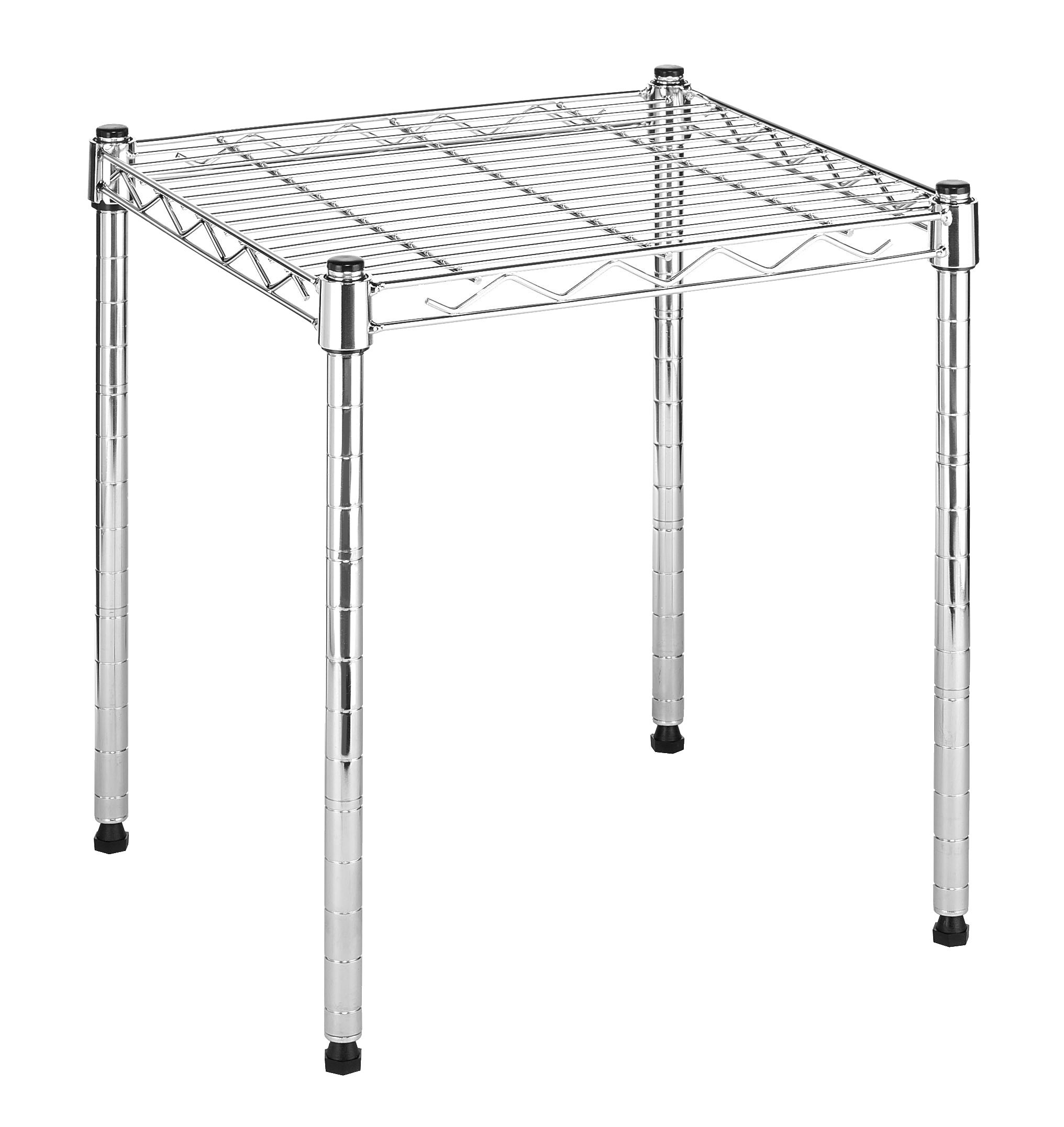 Whitmor Supreme Stacking Shelf and Organizer - Adjustable - Chrome