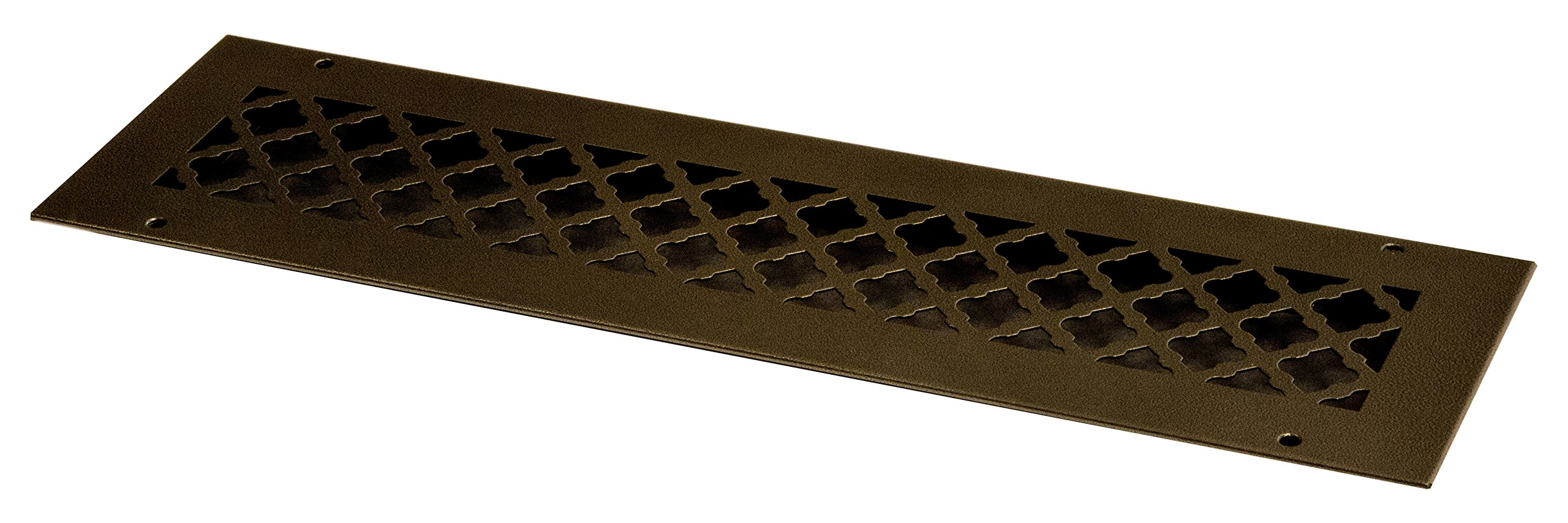 SteelCrest BTU20X4RORBH Bronze Series Designer Wall/Ceiling Vent Cover, with Mounting Screws, Oil Rubbed Bronze