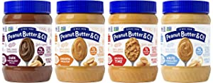 Peanut Butter & Co. Top Sellers Variety Pack, Non-GMO Project Verified, Gluten Free, Vegan, 16 Ounce (Pack of 4)