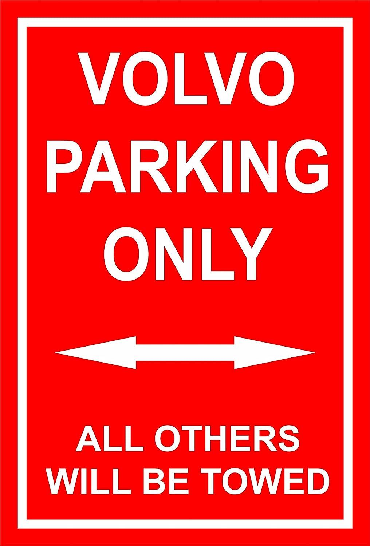 Melis Folienwerkstatt Volvo Parking Only - 30 x 20 cm, 45 x 30 cm, 60 x 40 cm - Trous de perçage pour percer en Mousse Dure Aluminium