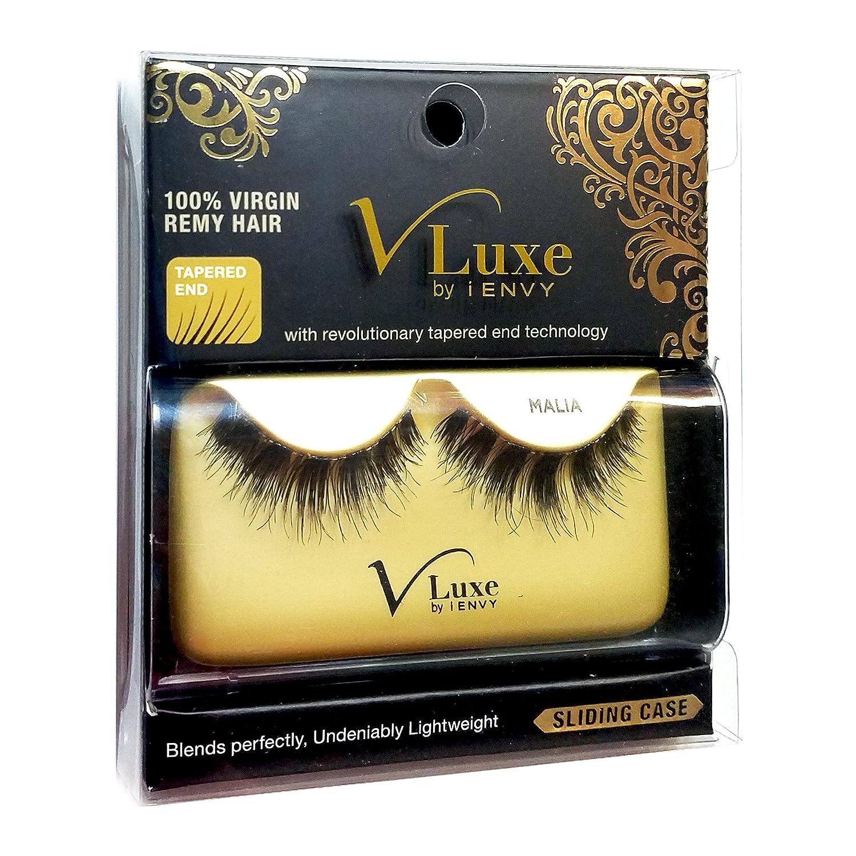 010e84a3e0f Amazon.com : V-LUXE by Kiss I Envy 100% Virgin Remy Strip Eyelashes - VLE12  MALIA (6 Pack) : Beauty