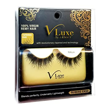e716dcd1cbb Amazon.com : V-LUXE by Kiss I Envy 100% Virgin Remy Strip Eyelashes - VLE12  MALIA (3 Pack) : Beauty