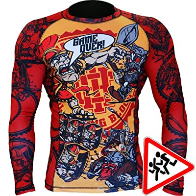 Kids Rashguard Hardcore Training Game Over MMA Fitness Boys