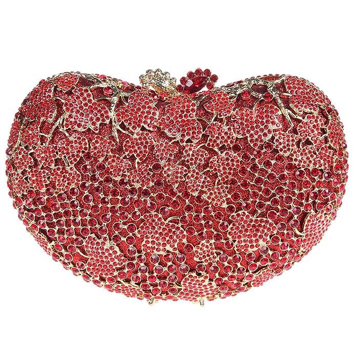 Amazon.com: fawziya forma de corazón beso Lock embrague ...