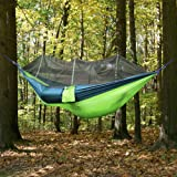 Premium Quality Camping Hammock, Lightweight Parachute Fabric Travel Bed  Mosquito Net Outdoor Hammock For Indoor