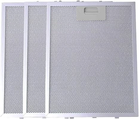 Filtro de Grasa para Campana Extractora de Cocina por Poweka (Plata, 320 x 260 mm, 3 Piezas): Amazon.es: Grandes electrodomésticos