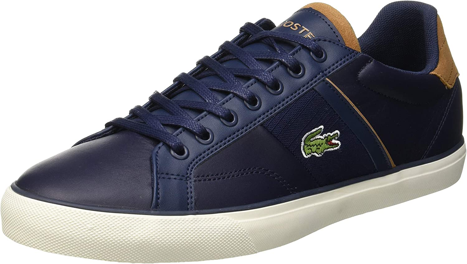 Lacoste Ampthill Chukka Trainers in Navy /& Light Brown Leather