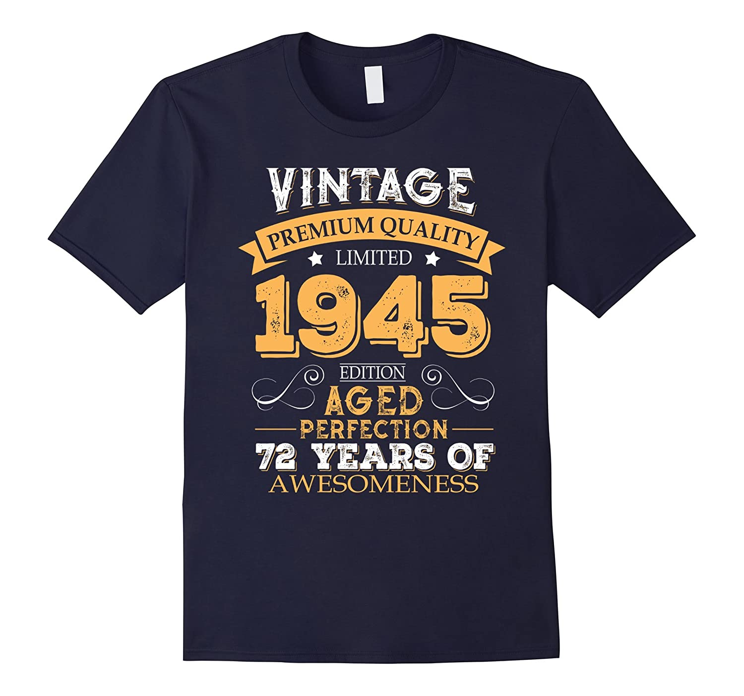 Vintage Born in 1945 72nd Birthday 72 Years Old Awesome Gift-FL