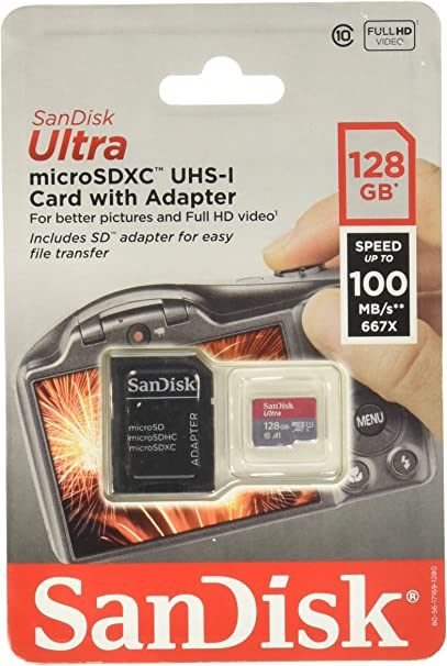 100MBs A1 U1 C10 Works with SanDisk SanDisk Ultra 128GB MicroSDXC Verified for Kyocera Hydro Vibe by SanFlash