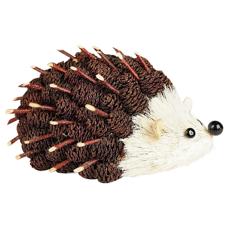 Tom Floral Hedgehog Brown Mini Pinecones /& Twigs 6 Inch Artificial Tabletop Figurine