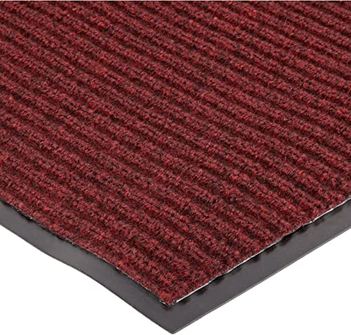 Heavy Duty Front Door Mat Large Outdoor Indoor Entrance Doormat Waterproof Low Profile Entrance Rug Patio Grass Snow Scraper Rubber Back – Durable and Easy to Clean 36 x 60 , Wine Red