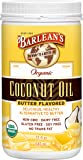 Barleans Butter Flavored Coconut Oil, 32 Ounce