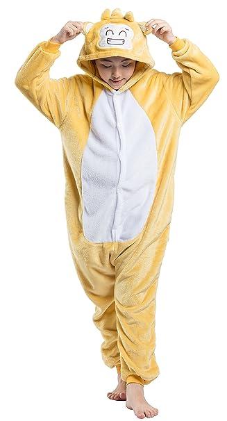 Pijama Niño Niña Animal Mono Jumpsuit Cuerpo Entero Mujer Familiar Navidad Halloween Disfraz