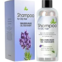 Natural Oily Hair Shampoo for Men and Women with Sensitive Scalp & Greasy Hair –...