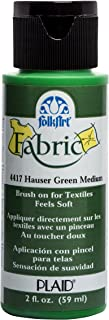 product image for FolkArt 4417 Fabric Brush On Acrylic Paint, 2 oz, Hauser Green Medium