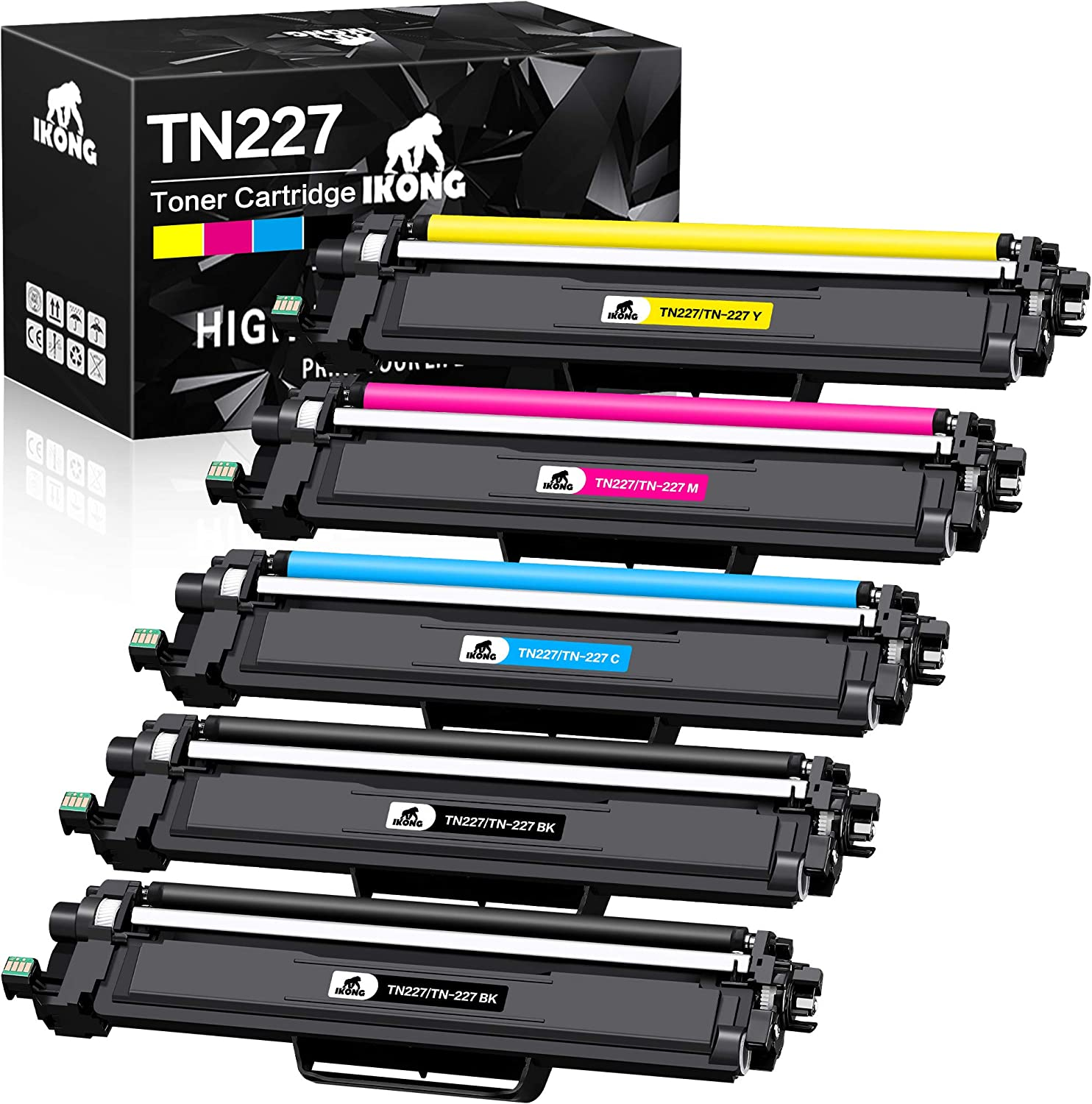 IKONG Compatible Toner Cartridge Replacement for Brother TN227 TN-227 TN223 TN-223 use with MFC-L3770CDW MFC-L3750CDW MFC-L3710CW HL-L3210CW HL-L3230CDW HL-L3290CDW