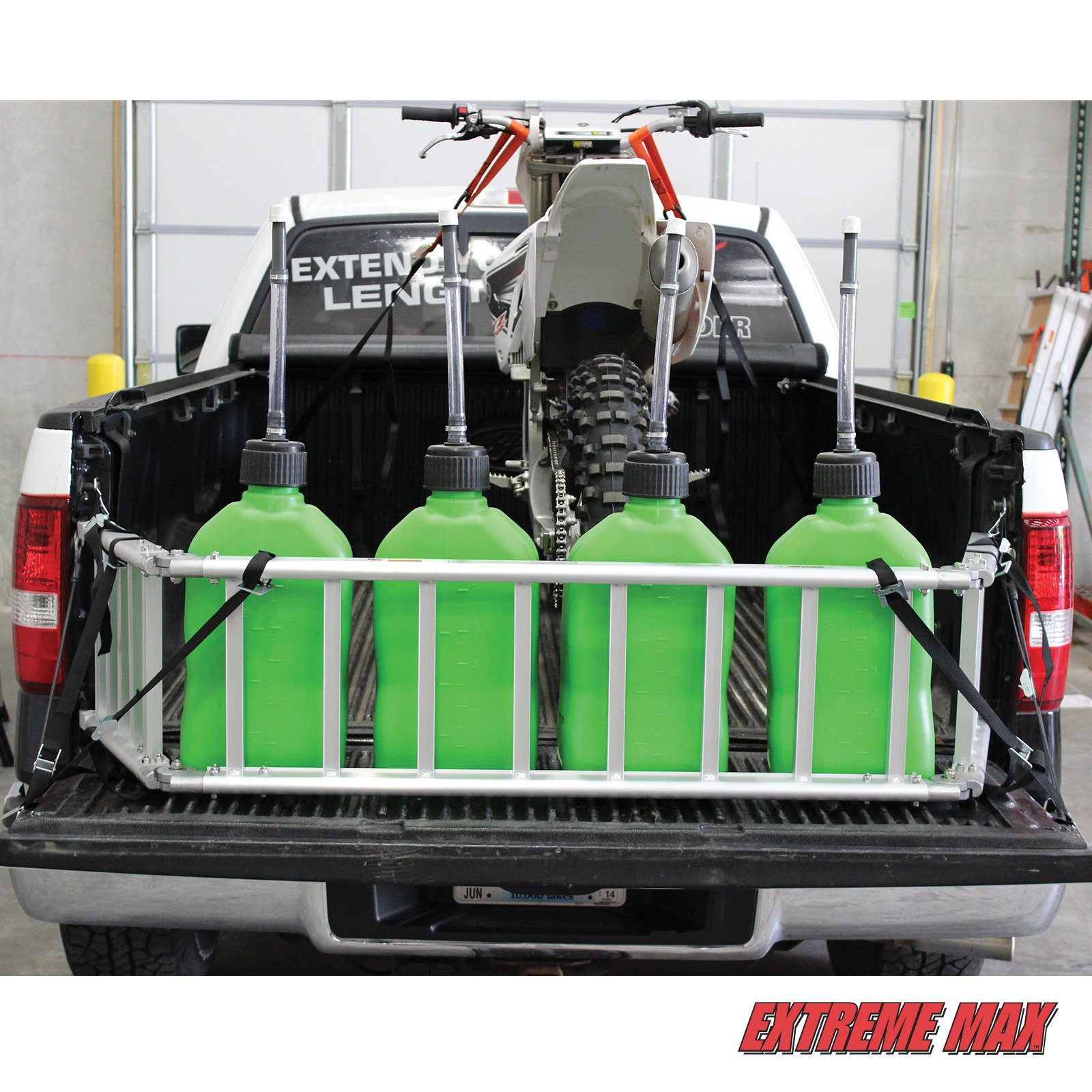 Extreme Max (NR002S-SLVR) Motorcycle RampXtender Aluminum Ramp Set and Tailgate Extender Combo by Extreme Max (Image #2)