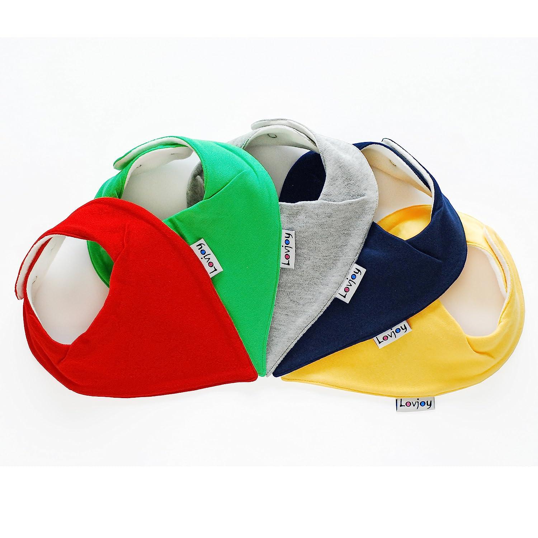 Dreieckstucher 5er Pack Lovjoy Bandana Baby Halstuch L/ätzchen F/ür 0-3 Jahre Colour Rush