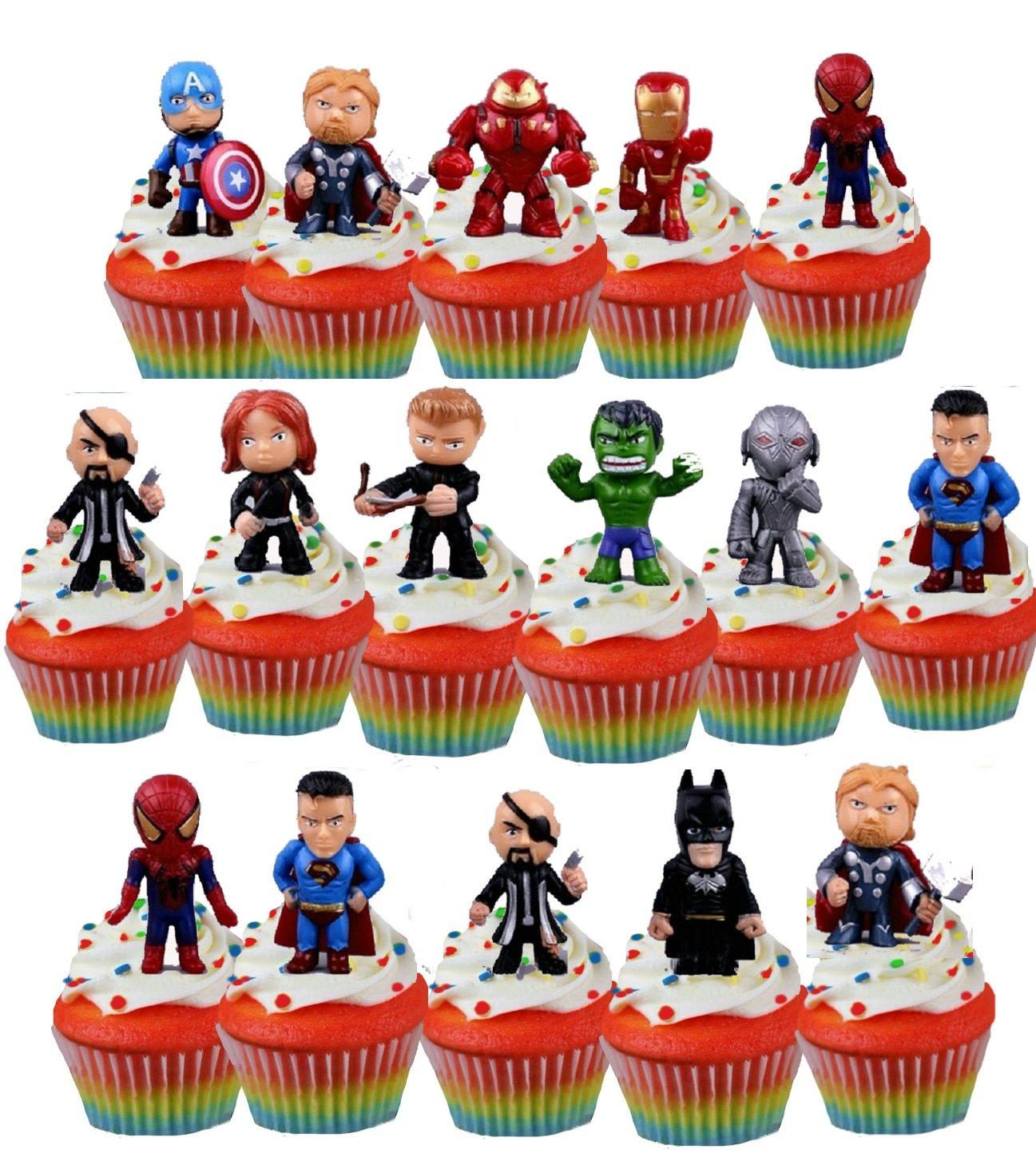 Super Hero Marvel Avenger Cupcake Toppers