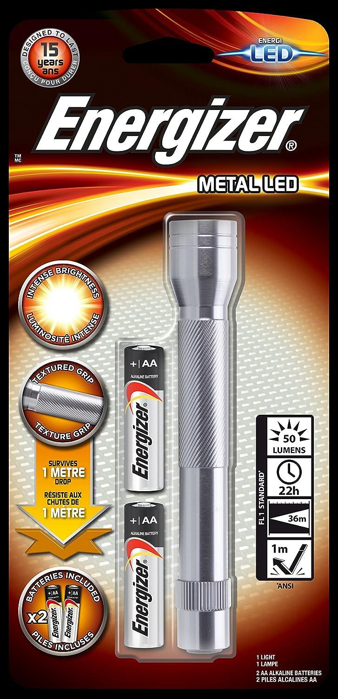 Lampe de poche Energizer Led métal 634041 argent-Lampe torche LED