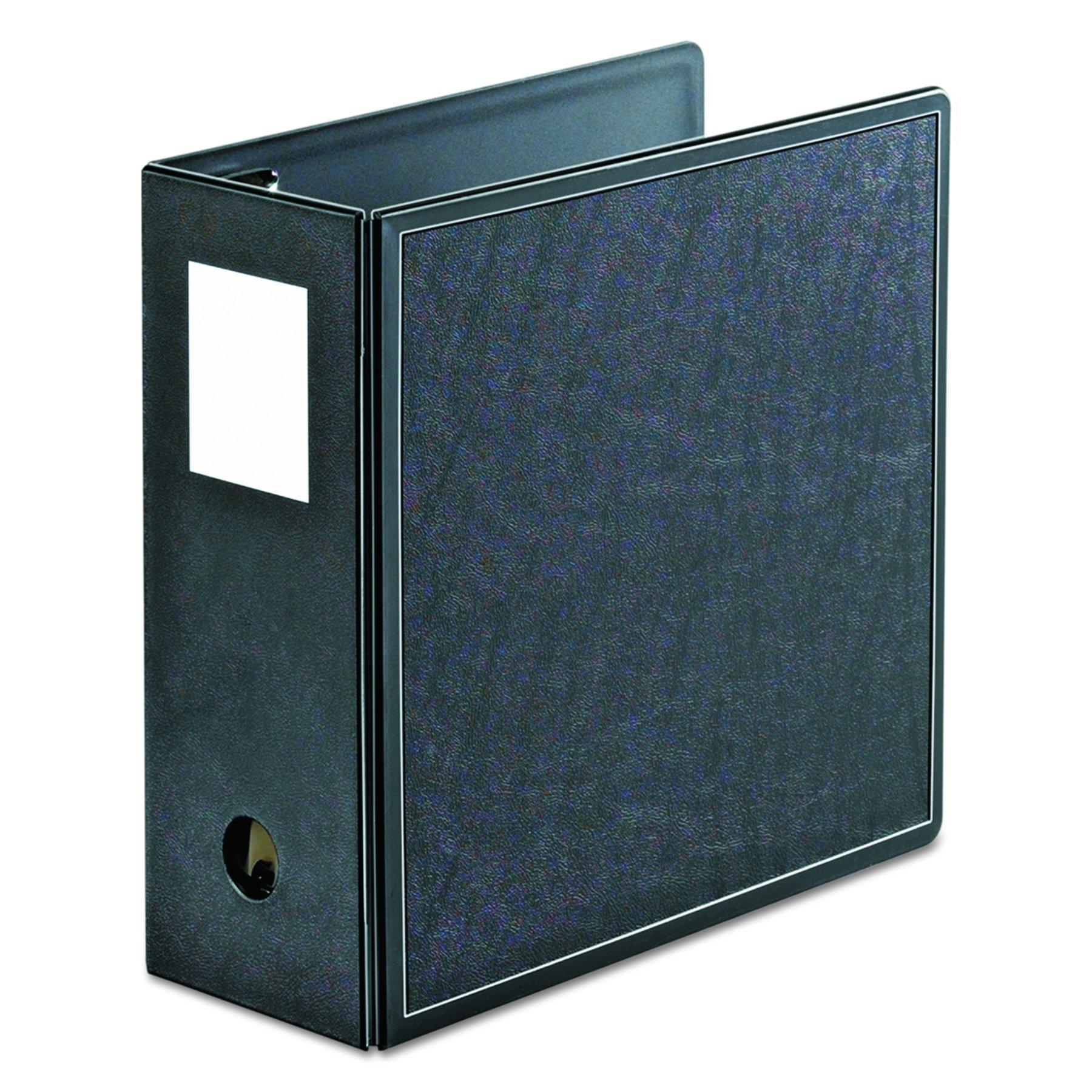 Cardinal 14052 SuperLife Easy Open Locking Slant-D Ring Binder, 5'' Cap, 11 x 8 1/2, Black