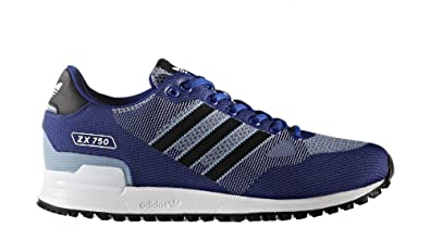 adidas Originals ZX 750 WV Hommes Baskets Bleu BY9276, Size:46