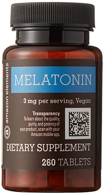 Image Unavailable. Image not available for. Color: Amazon Elements Melatonin 3mg ...